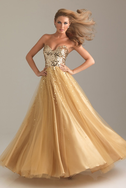 Sweet 16 dresses gold and white prom