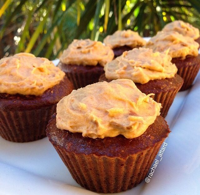 Chocolate muffins with salted caramel icing (i love my muffins!)