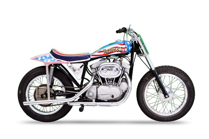Knievel S 76 Ironhead Could Be Yours: 1970 HD Evel Knievel Sportster Replica