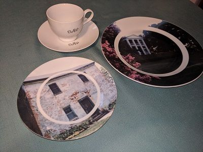 We made these custom printed beautiful looking dinner plates side plates and cup and saucer for a Carolina Plantation. These not only look stunning but ... & 22 best Printed Pictures Logos On Plates (porcelain/ceramic/bone ...