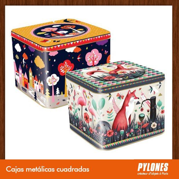 Cajas metálicas cuadrdas @pylonesco Pylones Colombia #navidad #regalos #pylones #novedades #new #gifts #christmas — en Colombia.