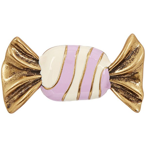 Marc Jacobs Striped Candy Gold Tone Pin ($26) ❤ liked on Polyvore featuring jewelry, brooches, enamel brooches, marc jacobs jewelry, engraved jewellery, marc jacobs and gold colored jewelry