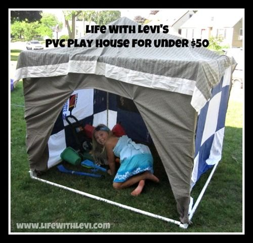 Best 25 pvc fort ideas on pinterest pvc pipe tent how for Pvc playhouse kit
