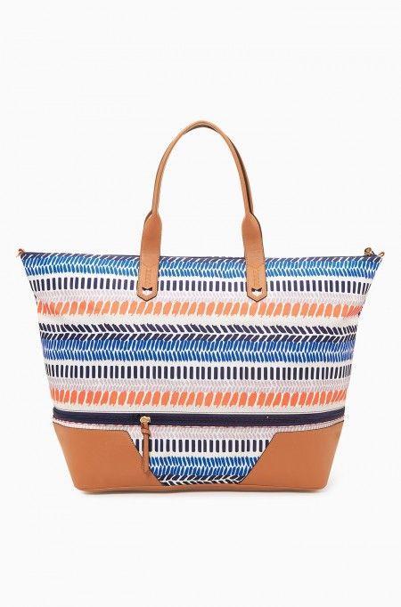 Available 3/30!  www.stelladot.com/sarahtaliaferro  Getaway Bag in Multi Stripe Ikat   Stella & Dot