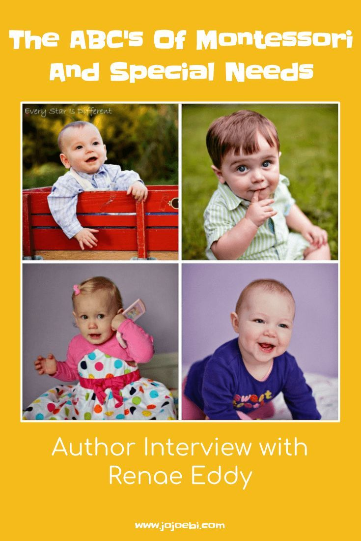 Renae Eddy author of The ABC's Of Montessori And Special Needs | Montessori | Special needs | Montessori and special needs | Montessori and autism | Montessori and ADHD |