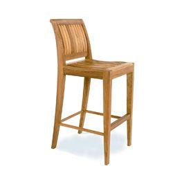 Laguna Armless Teak Outdoor Bar Stool - Westminster Teak Outdoor Furniture