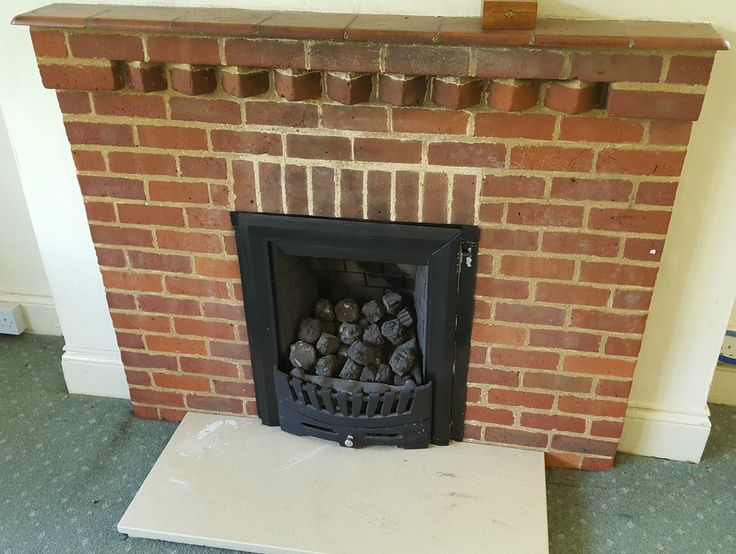 Coal Effect Gas fire and Brick surround   eBay