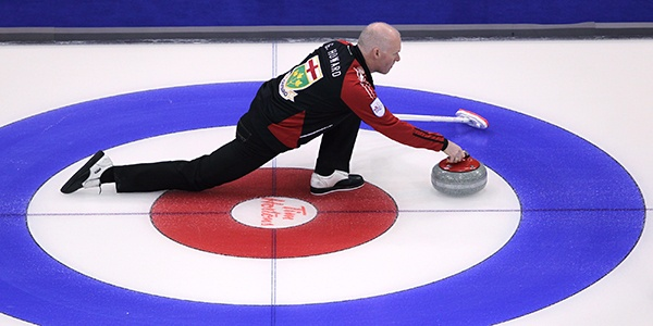 MARCH 4: KING OF THE RINGS -- Ontario skip Glenn Howard delivered a rock during a round-robin win over Newfoundland & Labrador at the Brier in Saskatoon. Howard would lose just once en route to capturing his second Canadian championship as a skip (and first since 2007) and later add his second world title. (Jonathan Hayward/Canadian Press)