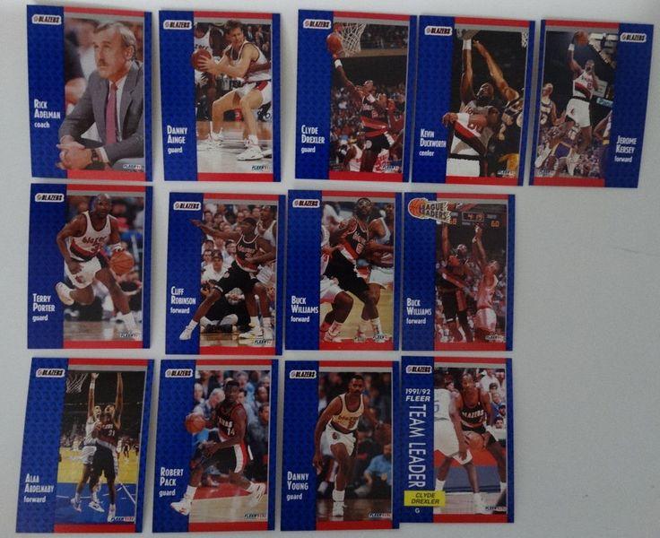 1991-92 Fleer Portland Trail Blazers Team Set Of 13 Basketball Cards #PortlandTrailBlazers
