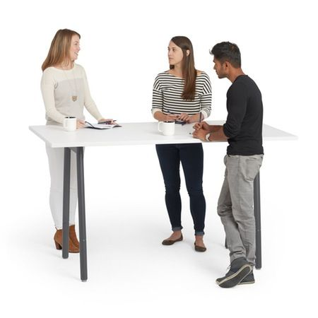 Series A Standing Meeting Table White 72 Quot X 36