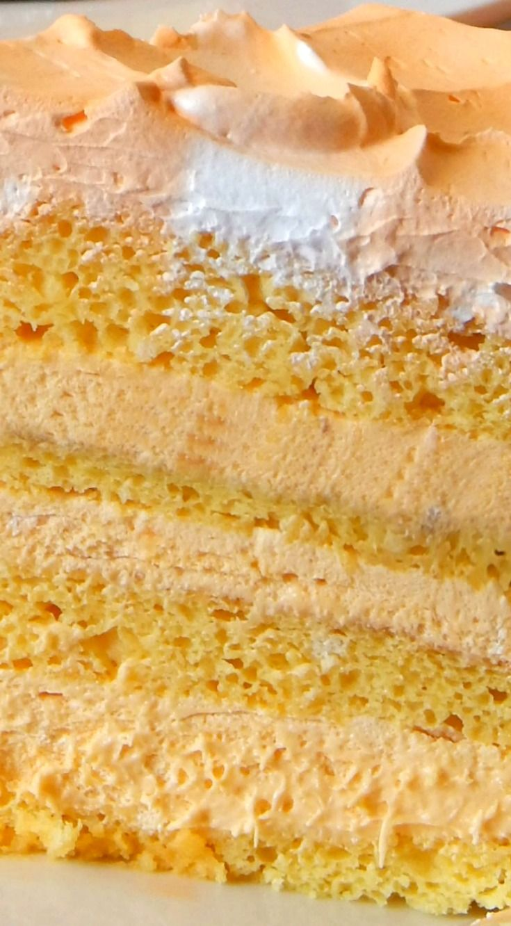 Orange Dreamsicle Cake ~ Tastes just like an orange dreamsicle bar... You need to try this recipe, your family will love it!!!
