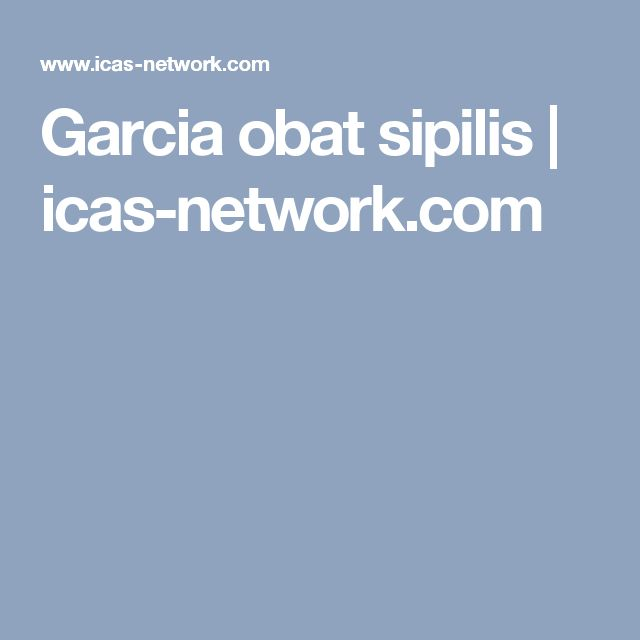 Garcia obat sipilis | icas-network.com