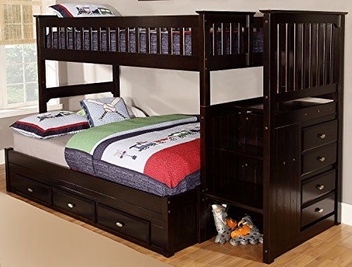 Discovery World Furniture Twin Over Full Staircase Bunk B Https