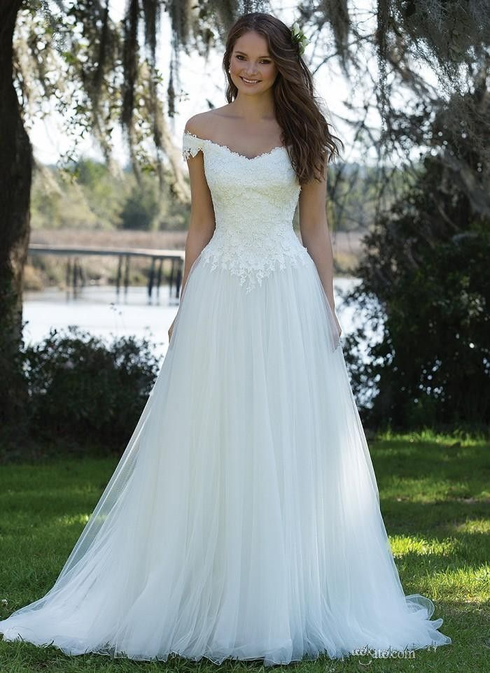 Find More Wedding Dresses Information about romantic white cheap wedding dresses 2017 cap sleeve ...