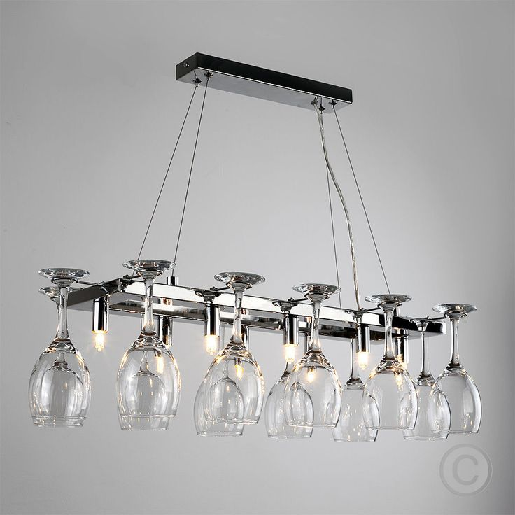 Modern 8 Way Chrome Wine Glass Rack Chandelier Suspended Ceiling Light Ing