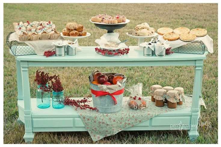 brunch pastry table