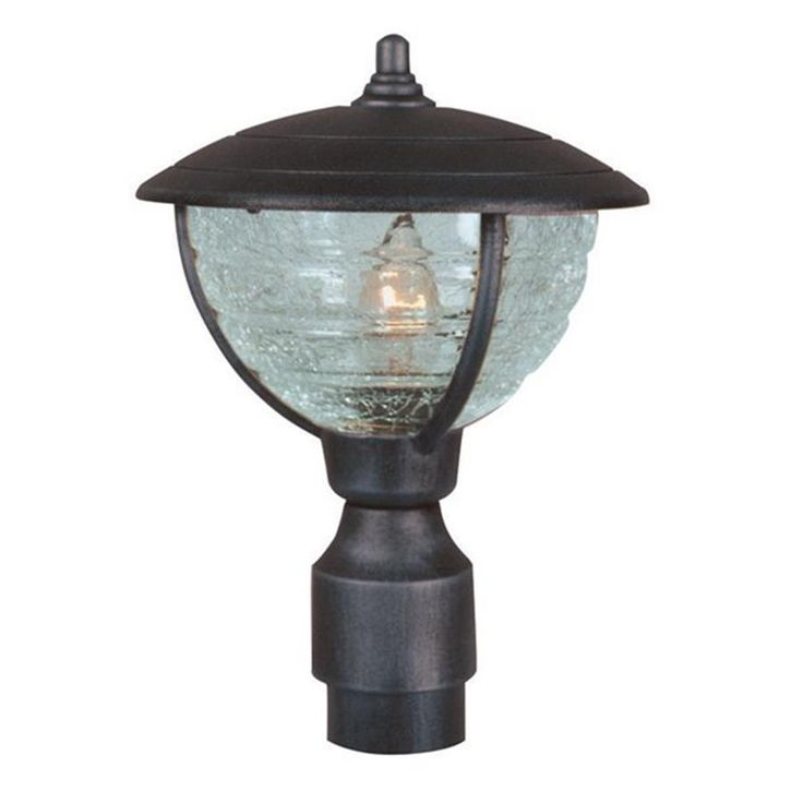 Lowes Special Lite Vista 12.75-in H Black Post Light