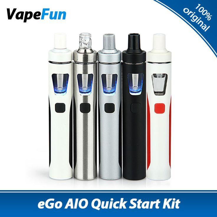 100% Original Joyetech EGo AIO Kit 1500mAh Battery AIO All-in-One  Electronic Cigarette Vaporizer Ego Aio Starter Kit Vape Pen