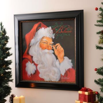 We love this classic image of Santa! Decorate your home with the We Believe in Santa Framed Art Print! #Kirklands #HollyJolly #holidaydecor #KirklandsHoliday