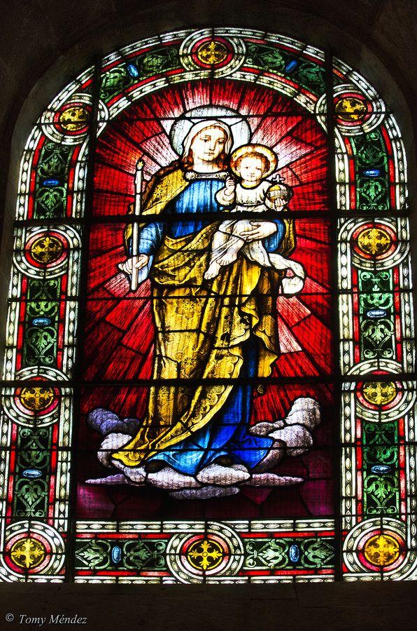 Vidriera de la iglesia mayor de La Concepción, La Orotava, Tenerife, Islas Canarias: Photo