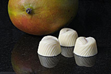copyright sjokcake witte chocolade met mango vanilleroom vulling