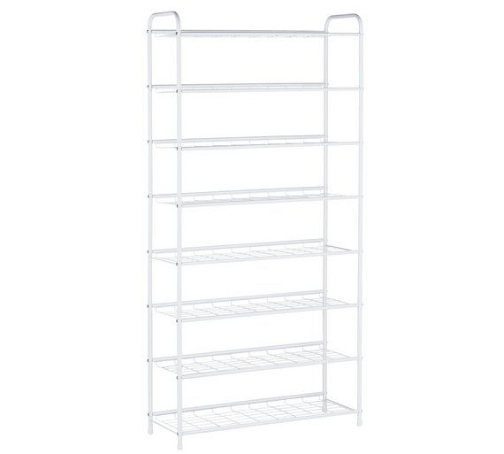Buy HOME 8 Tier White Shoe Rack at Argos.co.uk, visit Argos.co.uk to shop online for Shoe storage, Storage, Home and garden