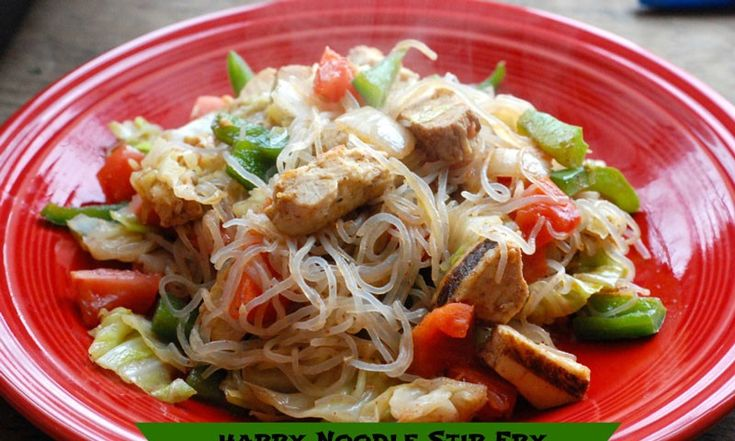 Not-Naughty Noodles and Not-Naughty Rice from Trim Healthy Mama are full of fiber and have zero net carbs. This stir-fry dinner recipe is quick and easy.