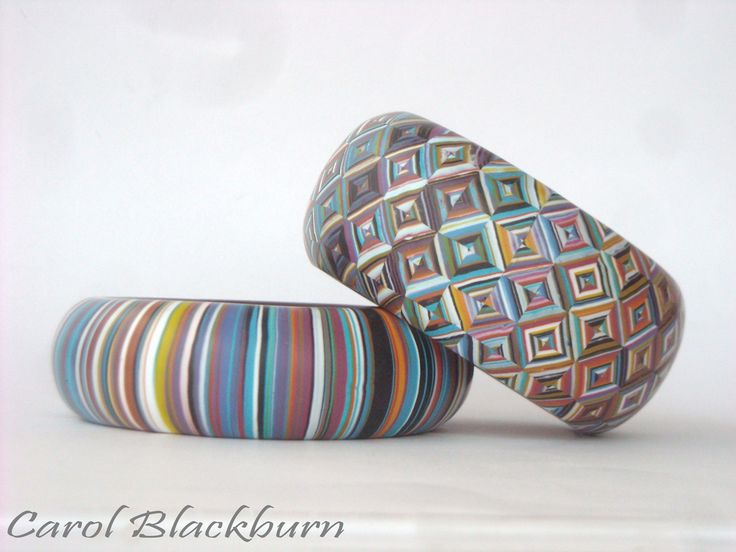 polymer clay Bangles by Carol Blackburn | Flickr - Photo Sharing!