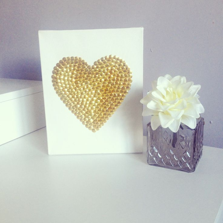 Blushed Creations. Our Studded Heart canvas