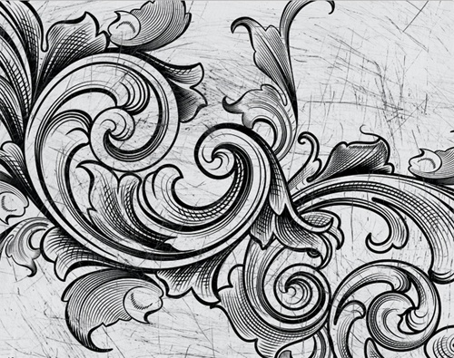 Acanthus leaf carving patterns page kid