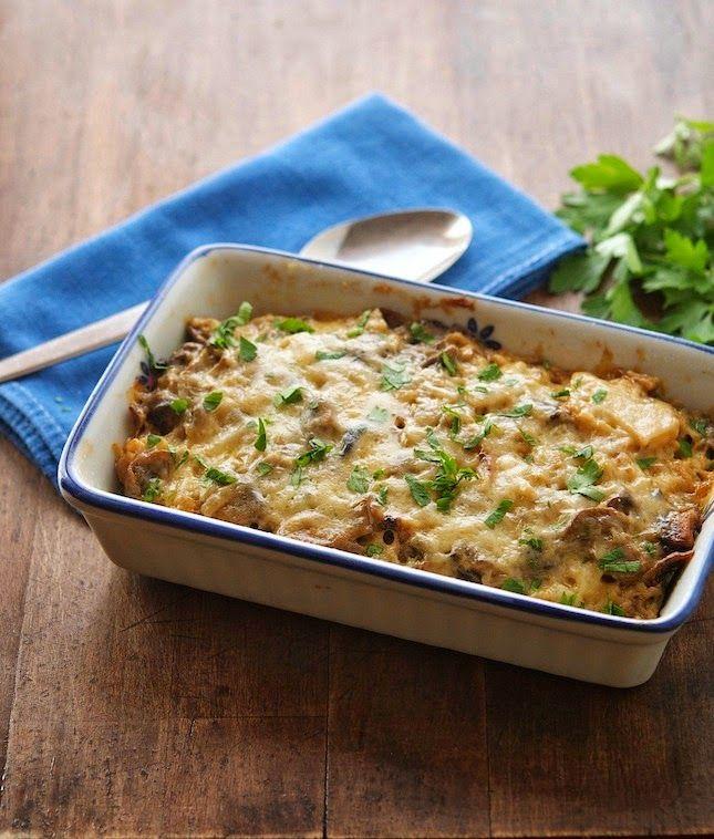 Caramelized Cauliflower and Mushroom Casserole, from theironyou.com