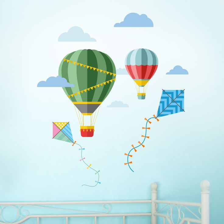 Hot Air Balloon and Kites – Wall Stickers
