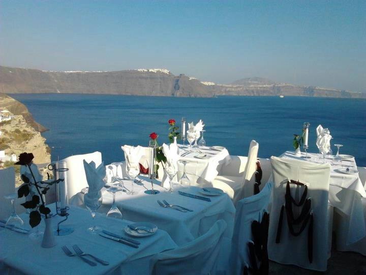 Wedding reception in Oia Santorini, Greece. Photo JL