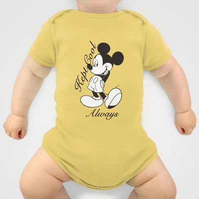 Kept Cool Always Mickey Mouse Onesie by Timeless-Id - $20.00