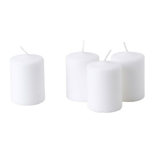 15 Hours Church Wedding White Block Pillar candles Round Pack of 4 (Hight 8 CM X Diameter 6CM Each) House2Home http://www.amazon.co.uk/dp/B006VZ4OLE/ref=cm_sw_r_pi_dp_l5QUub1T0Q1X4