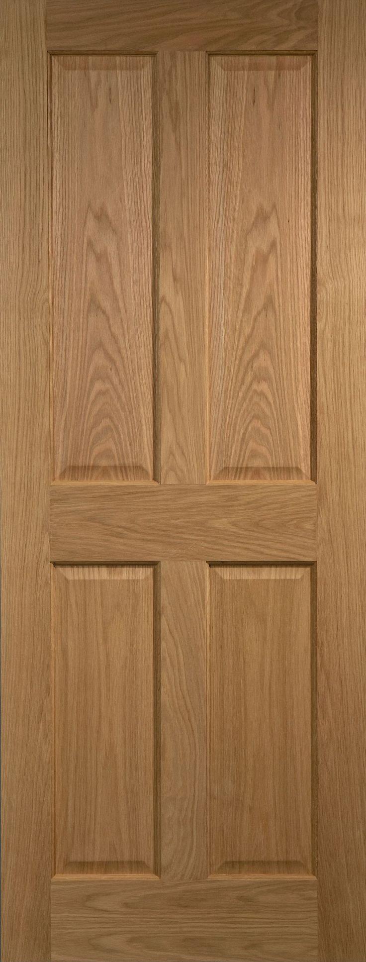 4 Panel Oak Veneer Internal Unglazed Door, (H)1981mm (W)762mm   Departments…