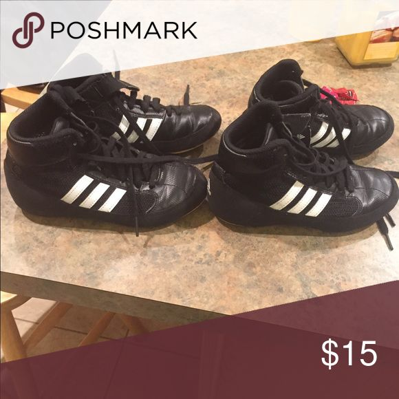 Youth wrestling shoes Worn one season. Great shape sold separately Adidas Shoes Sneakers