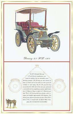 Лионель Моррис. Серия ретро-автомобили. 1902 Дарракк