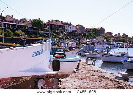 #Nessebar (#Nesebar) - historic town at the #Bulgarian #seacoast - #stockphotos #Bulgaria #boats #sea   Bigstock