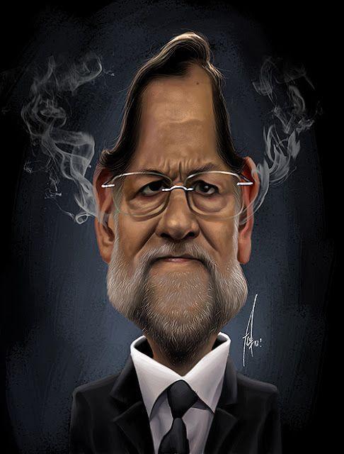 """CARICATURAS DE FAMOSOS: """"Mariano Rajoy"""" por Alex Gallego"""