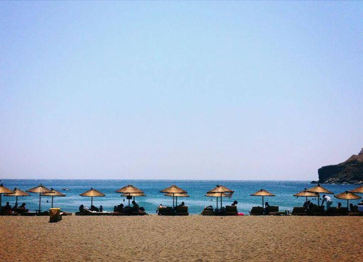Η παραλία στο Σπαθί.