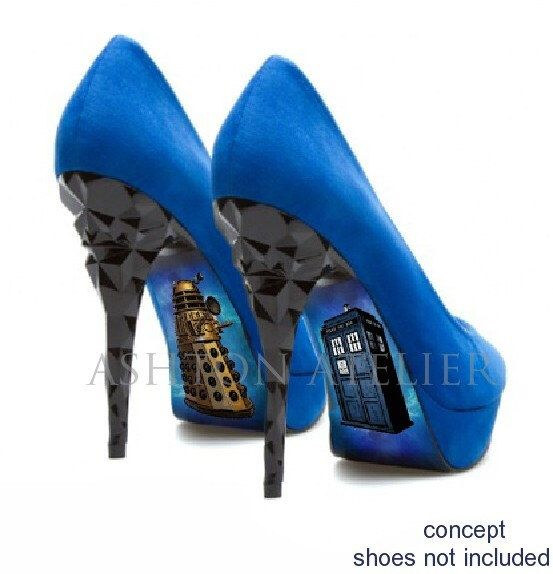 Custom hand painted Dr Who heels by AshtonAtelier on Etsy https://www.etsy.com/au/listing/203730735/custom-hand-painted-dr-who-heels