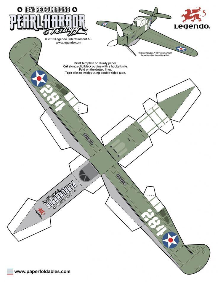 aviones para armar | Tags: modelos para imprimir y armar | naves para armar de papel ...