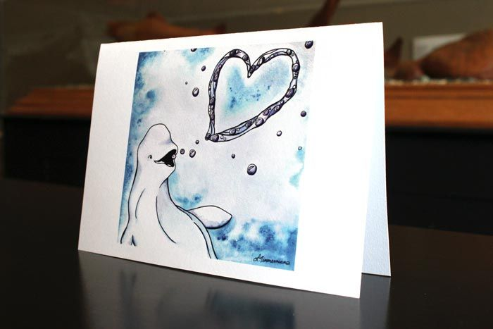 Bubble Heart - art by Laura Timmermans (Belugas)