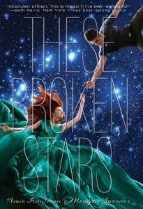 """Review from Girls in Capes: """"I adored These Broken Stars; the characters, the world, the plot and the romance were all done wonderfully well. The writing was gorgeous with lines that come to memory and resonate. I teared up while reading several times and I rooted for Lilac and Tarver with everything they wanted and had to do. The plot twists took me by surprise and they were heart-wrenching as they continued complicating situations for both of them."""""""