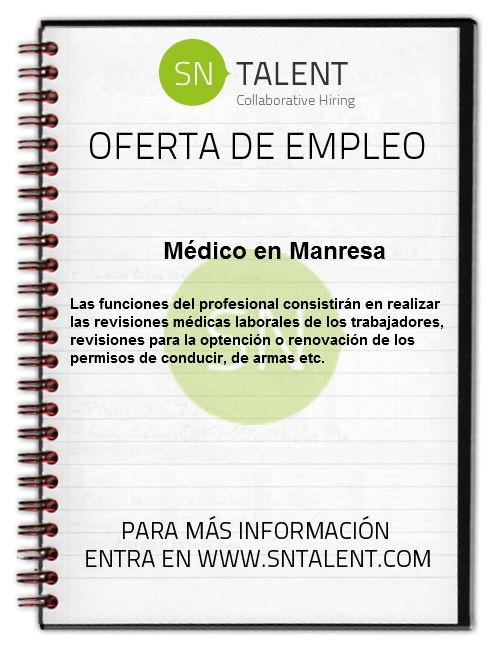 #Empleo #Medico en #Manresa