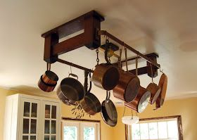 The Making of a Craftsman Home: Kitchen Pot Rack