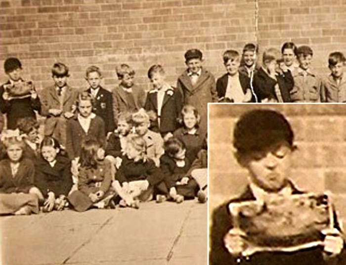 Paul McCartney's 1952 class picture! He is probably 9 here since the picture would have been taken during the school year and he has a June birthday when he would have turned 10. He looks exactly the same!!
