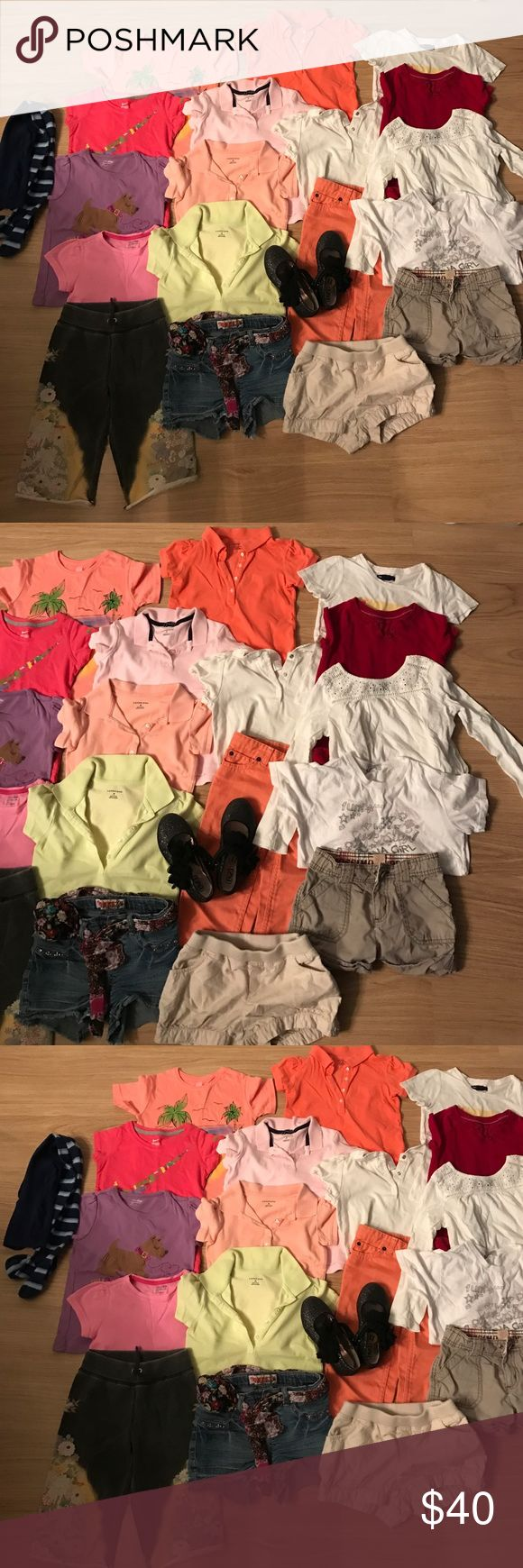 20 pc girls sz 5 TEE T-shirt shorts Gap Lands'end 20 pc girls LOT size 5 excellent condition NO Rips NO STAINS!!!!SHORTS SLEEVES 4 pc LANDS'END 5 pc baby Gap Janie and Jacks Dupo Dupo Girl Nike Reebok!!!shoes 11 sz !!! Shorts 5 pc Lands' END LUCKY BRAND MOSSIMO SUPPLY CO,Squeeze,Lands End kids, GAP Shirts & Tops Tees - Short Sleeve