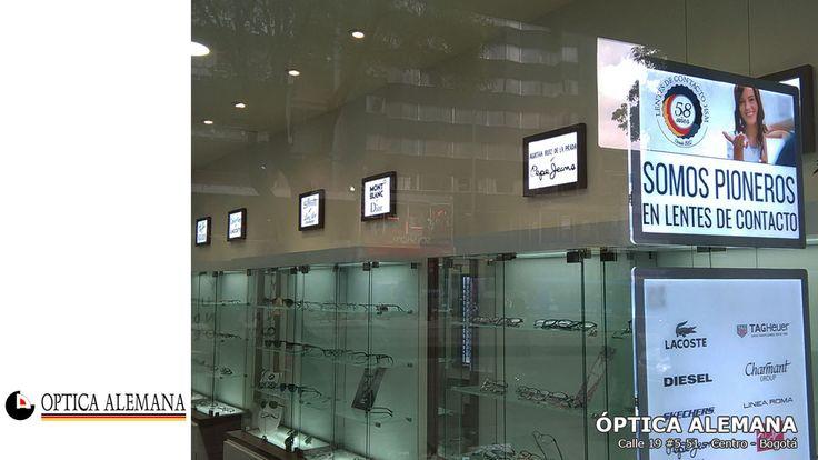 Optica Alemana aumentó sus ventas de 2 dígitos por instalar los portacarteles luminosos LED y tener una publicidad luminosa POP en sus sedes.